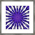 Blue Orchid Sunburst Kaleidoscope Framed Print
