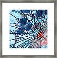 Blue Ornamental Thai Umbrella Framed Print