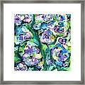 Blue Pansies Framed Print