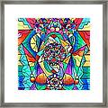 Blue Ray Transcendence Grid Framed Print by Teal Eye  Print Store