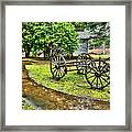 Blue Ridge Parkway Vintage Wagon In The Rain I Framed Print by Dan Carmichael