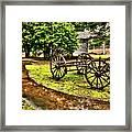 Blue Ridge Parkway Vintage Wagon In The Rain II Framed Print by Dan Carmichael