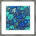 Blue Roses Framed Print