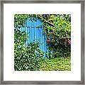 Blue Shed II Framed Print