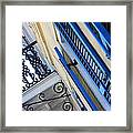 Blue Shutters In New Orleans Framed Print