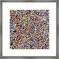 Blue String Theory Framed Print