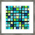 Blue Sudoku Framed Print