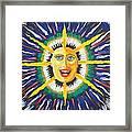 Blue Sun Framed Print