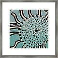 Blue Sun Tangle Framed Print