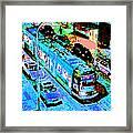 Blue Trolley Portland Framed Print