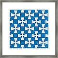 Blue Twirl Framed Print by Linda Woods