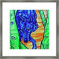 Blue Wolf Framed Print