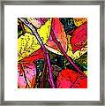 Blueberry Autumn Leaves Framed Print