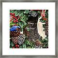 Bluebird Christmas Wreath Framed Print