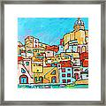 Boats In Front Of The Buildings Vii Framed Print