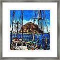 Boats Of Morro Bay Framed Print
