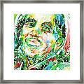 Bob Marley Watercolor Portrait.2 Framed Print