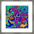 Bold Blue Abstract Decor Framed Print