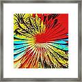 Bold Floral Hat Abstract Framed Print