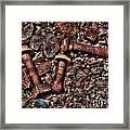 Bolts In Gravel Framed Print