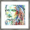 Bono Watercolor Portrait.2 Framed Print
