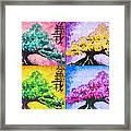 Bonsai Pop Art Framed Print