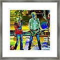 Boston #78 Enhanced In Cosmicolors Framed Print