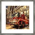Boston Fire Truck  Framed Print