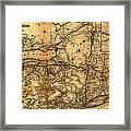 Boston Hoosac Tunnel And Western Railway Map 1881 Framed Print