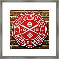 Boston Red Sox 1915 World Champions Framed Print by Stephen Stookey