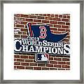 Boston Red Sox World Champions Framed Print