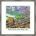 Boston Rooftops And The Charles River Framed Print