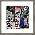 Boston Terrier Watercolor Collage Framed Print