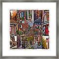 Boston Tourism Collage Framed Print