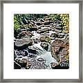 Boulder Stream Framed Print