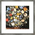 Bouquet In A Clay Vase Framed Print