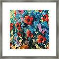 Bouquet In Blue Framed Print
