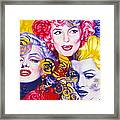 Bouquet Of Marilyn Framed Print by Rebecca Glaze