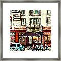 Boutique Mary Seltzer Dress Shop Cote St Luc Montreal Paintings Hockey Art City Scenes Cspandau Framed Print