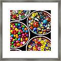 Bowls Of Buttons And Marbles Framed Print