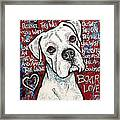 Boxer Love Framed Print by Stephanie Gerace