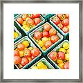 Boxes Of Cherry Tomatoes On Display Framed Print