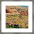 Boynton Overlook On Highway 12 In Grand Staircase-escalante National Monument-utah Framed Print