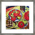 Bread Tomato And Apples Framed Print by Vladimir Kezerashvili