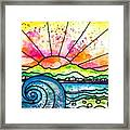 Break Of Day Watercolor Framed Print