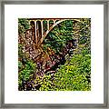 Bridge Over North Harbour River-nl Framed Print