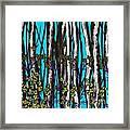 Bright Blue And Birch Framed Print
