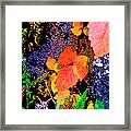 Bright Colorful Leaves Vertical Framed Print