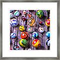 Bright Colorful Marbles Framed Print