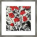 Bright Red Poppies Framed Print
